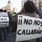 Protesta en contra de la ley mordaza