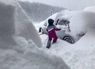 Fuertes nevadas en Alemania y Austria