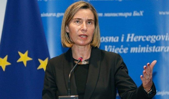 jefa de la diplomacia europea Federica Mogherini