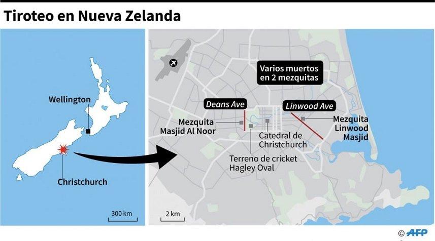 Los lugares de los ataques. (AFP).