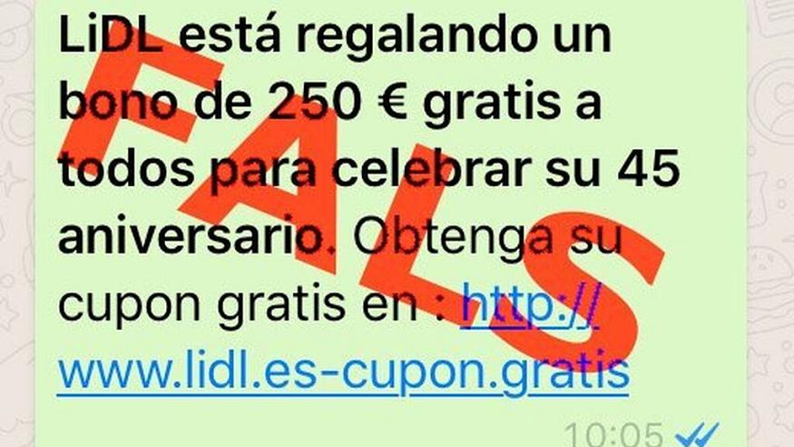 La nueva estafa de Lidl que circula por WhatsApp: el bono de 250€