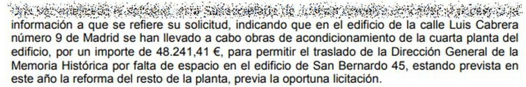 Resolución del Portal de Transparencia del Ministerio de Justicia.  Vía: EL ESPAÑOL