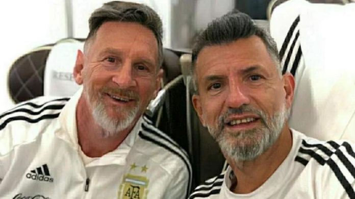 Messi, usando FaceApp