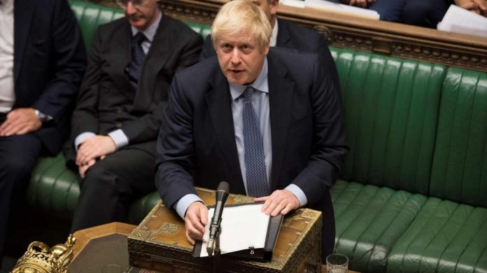 boris johnson y el parlamento británico