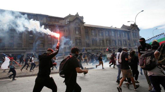 Protestas en el estado chileno