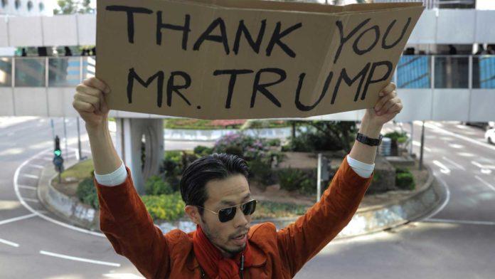 Apoyo de Trump a Hong Kong